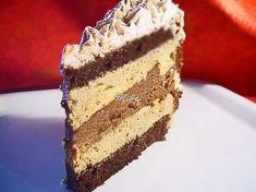 """Mod de preparare Tort """"Senzatii tari"""": Blat: Albusurile se bat spuma tare cu un praf de sare. Se adauga zaharul si se mixeaza pana devin lucioase, ca pentru bezea. Galbenusurile se mixeaza cu uleiul si esenta de rom si se adauga peste albusuri. Urmeaza apoi faina amestecata cu praful de copt … Cake Receipe, Cookie Recipes, Dessert Recipes, Romanian Desserts, Food Cakes, Something Sweet, Yummy Cakes, Vanilla Cake, Delicious Desserts"""