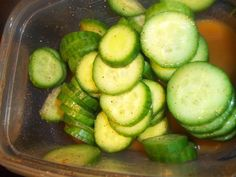 Spiced Cucumber Slices        I used delicious seedless organic English Cucumbers from Trader Joe's.  They have   a great size and texture ...