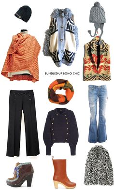 Bundled-up boho chic