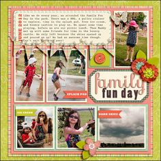 Scrapbooking Multi-Photo Layouts Step-by-Step (without relying on a template!)
