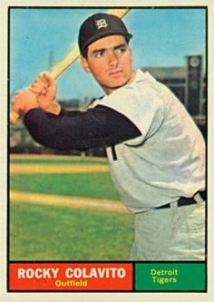 baseball cards colavito | ... set name 1961 topps card size 2 1 2 x 3 1 2 number of cards in set 592
