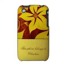 Grunge flowers iphone case