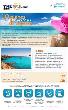 www.yacsol.com y haya travel en Yecla te ofrece 7 dias en Ibiza y vuelo desde alicante desde 337,00 € para que disfrutes tus vacaciones de sol y fiesta !!! ¿nos vamos ? ...pues ya estás tardando que nos quedamos sin plazas !!!