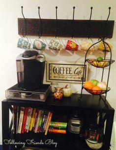 coffee station ideas | Coffee Station Following-Friends Blog