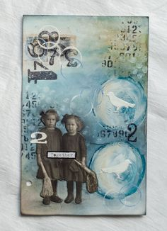 Inspiration for art journals - great background - ATC - Artist trading card