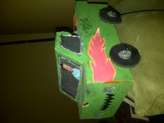 Boys Valentines Shoe box.  Used tempera paint so it looks a little splotchy. Enjoy:)