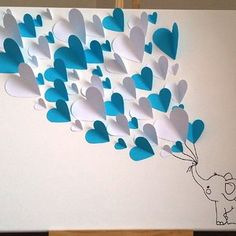 Butterfly Wall Art, Paper Butterflies, Paper Flowers, Diy Crafts For Gifts, Paper Crafts, Bday Background, Elephant Decoration, Decoration Creche, Diy Wall Painting