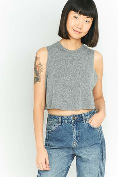 Urban Outfitters Grey Marl Tank Top