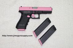 I would want this because it's Pink. My dad would want this for me because it's a gun. Win/Win. Prettist gun at the fireing range!