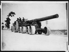 British BL inch Mk III naval gun (from the decommissioned battleship HMS Swiftsure going to its position, Ypres, Belgium. This shows a heavy artillery gun being transported along a road towards the Front. The gun, strapped to an eight-wheeled Ypres Belgium, Military Pictures, Commonwealth, War Photography, Big Guns, Military Weapons, World War One, Panzer, War Machine