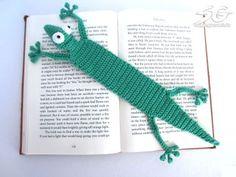 Amigurumi Gecko Lesezeichen Gratis Häkelanleitung, #haken, gratis patroon (Duits), boekenlegger, gekko
