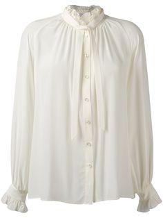 Closed frill neck shirt