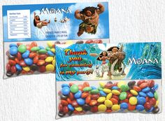 INSTANT DOWNLOAD Moana Bag Toppers Moana Party by BogdanDesign