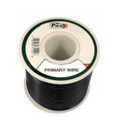Pico 81123J 12 AWG Black Primary Wire 15' per Package by Pico. $5.95. Single Conductor copper stranded primary wire with the highest quality polyvinyl chloride insulation providing the best in flexibility, permanent color and resistance to acids, grease, oil and diesel fumes. Primary wire is manufactured to meet all SAE Type J1128 specifications and will work safely between the operating temperatures of -40°F and 165°F.