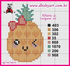 Cross Stitch Fruit, Small Cross Stitch, Cross Stitch Cards, Cute Cross Stitch, Counted Cross Stitch Patterns, Cross Stitch Designs, Cross Stitching, Cross Stitch Embroidery, Alpha Patterns