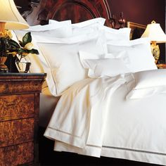 Sleep is a 500 thread count luxury - 'Yves Delorme Etoile Bed Linen'.