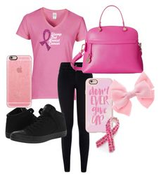 """""""Stamp out breast cancer"""" by laura-wild-1 ❤ liked on Polyvore featuring Converse, Furla, Casetify and Bling Jewelry"""