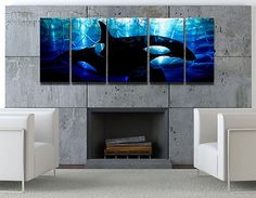 OMG I LOOOOVE THIS!! Abstract modern metal wall art painting sculpture original Orca whale by R. Hawk