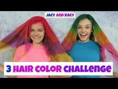 3 Hair Color Challenge ~ Jacy and Kacy - YouTube
