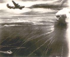 "The air battle over Nauru Island, April, 1943. From ""Unbroken"" by Laura Hillenbrand."
