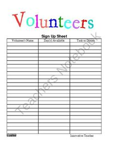 The Teachers Ultimate Sign In Sheets From Innovative Teacher