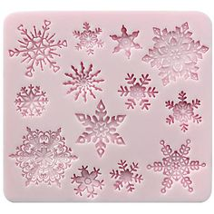 Mini Snowflake Lace Silicone Mold - FUNSHOWCASE Easy Cake Decorating, Decorating Tools, Resin Molds, Silicone Molds, Steampunk Gears, Agate Coasters, Mini Hands, Fondant Molds, Porcelain Clay