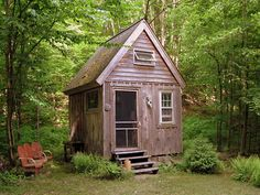 Guest cabin in the Catskills, New York; i would love to see a plan...