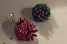 Sparkly Pine Cone Christmas Ornament Craft for Kids (As Seen On the OVM Show!)