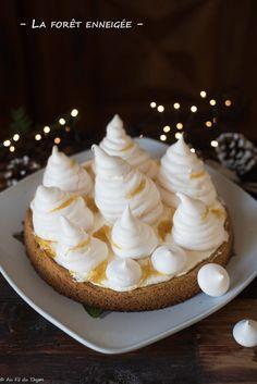 La forêt de sapins enneigée (Dessert de Noël au citron) Biscuits, Mini Cupcakes, Desserts, Food, Preserved Lemons, Lemon Tarts, Cooking Recipes, Crack Crackers, Tailgate Desserts