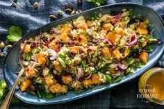 Quinoový salát s batáty   Hodně domácí Paella, Fried Rice, Quinoa, Potato Salad, Fries, Salads, Food And Drink, Potatoes, Chicken