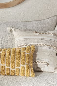 Bring coziness and style to your home with this lovely cushion. Featuring stunning, one-of-a-kind embroidery and tassels, this beautiful accessory is ready to add a whole lot of texture and comfort to your sofa, lounge chair or bed. Style it with colourful pieces or layer it in with other neutrals. Fall Collections, Home Accessories, Nativity, Tassels, Neutral, Lounge, Cushions, Sofa, Embroidery