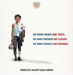 RMIET opposes every form of child labor and supports equal education for all. Inspirational Quotes For Kids, Motivational Thoughts, Right To Education, Kids Education, Ads Creative, Creative Posters, Social Campaign, National Days, Palestine