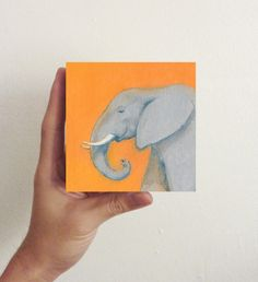 Miniature Elephant Art / Mini Art Block