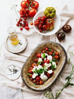 Lämmin mozzarellasalaatti | K-ruoka #grillaus #kasvisresepti