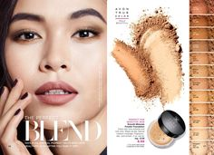 Find out all the good things that are in current Avon Brochures! Natural Foundation, Powder Foundation, Cute Makeup, Beauty Makeup, Makeup Poster, Avon True, Brow Powder, Makeup Setting Spray, Mineral Powder