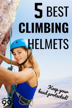 Climbing is a dangerous sport, especially when done outdoors. However, some simple steps can be taken to decrease the risk, such as wearing a climbing helmet. Since they are so important, we've compiled a list of the best climbing helmets available today! I Rock climbing tips I Climbing gear I Rock climbing for women I Rock climbing tips I Outdoor rock climbing Rock Climbing Gym, Sport Climbing, Climbing Outfits, Climbing Clothes, Alpine Climbing, Mountain Climbing, Dangerous Sports, Climbers, Training Tips