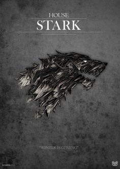 Awesome Game Of Thrones House Stark Poster