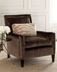"Old Hickory Tannery ""Paulina"" Velvet Chair $1799"