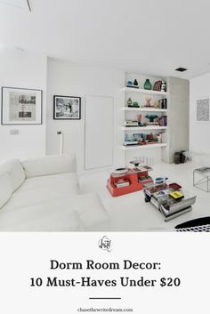 Bring your college dorm room to life without breaking the bank. These fun and useful items will make college living (and life) more enjoyable - and they might even help motivate you. A must-read for college students! Click through to see the list.