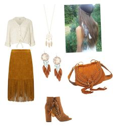 """""""Native/Western Outfit"""" by kahtahli ❤ liked on Polyvore featuring River Island, Jessica Simpson, Miss Selfridge, DKNY and Accessorize"""