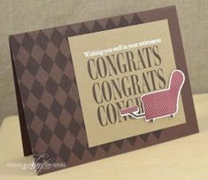 Retirement Congrats Card by Nichole Heady for Papertrey Ink (April 2013)