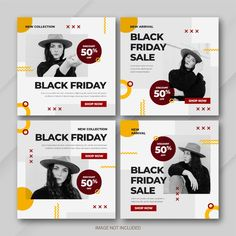 Sale Banner, Web Banner, Banners, Social Media Banner, Social Media Template, Instagram Banner, Instagram Posts, Layout Template, Templates