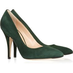 Bally Colette suede pumps ($255) ❤ liked on Polyvore