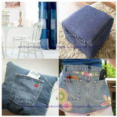 Con tela de jean