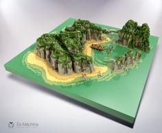 Some exotic island in voxel (inspired by the final trial of Koh Lanta, a french tv show) Minecraft Designs, Minecraft Creations, Minecraft Projects, Cool Minecraft, Minecraft Ideas, Minecraft Furniture, Isometric Art, Isometric Design, Minecraft Architecture