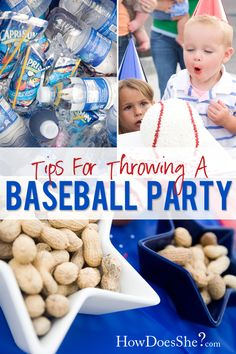 Here are some great ideas for throwing a baseball party! Our sports cello, ribbon, and baseball balloons are a perfect match for this theme! Baseball Birthday Cakes, Sports Birthday, Sports Party, Boy Birthday Parties, Birthday Fun, Birthday Ideas, Baseball Party Games, Softball Party, Camden