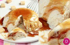 Τούρτα παγωτό τσουρέκι με καραμέλα