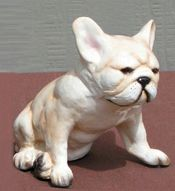 "French Bulldog figurine 4½""x3½""x4"" $56"