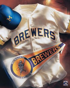 Milwaukee Brewers vintage collage
