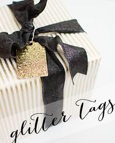 DIY Glitter Gift Tags | www.brittanymakes.com